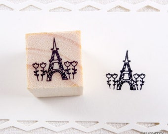 Eiffel Tower Small Rubber Stamp