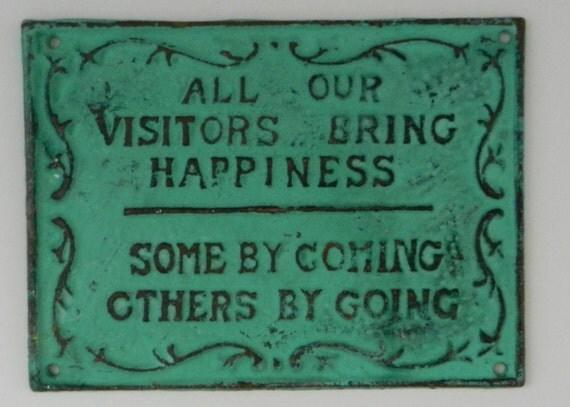 Funny visitors sign funny home decor pantina metal sign for Funny home decor