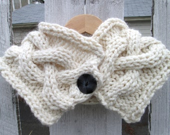 Cable Braid Cream Cowl - Made To Order