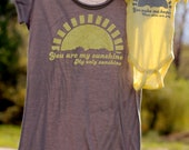 Mommy and Me Shirt Set: You Are My Sunshine  **S, M, L not available in this style.  Please see round neck or v-neck options**