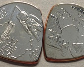 Coin Guitar Pick US State Quarter-You Choose the state