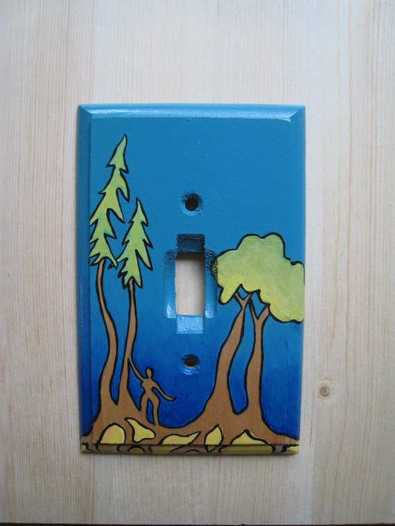 RESERVED for Ryan W: Turquoise Tranquility Single Toggle Light Switch Plate