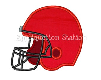 Football Helmet Applique Machine Embroidery Design Boy Sports Sport INSTANT DOWNLOAD