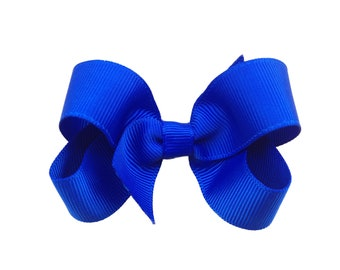 3 inch Blue hair bow - blue boutique bow, royal blue hair bow, boutique bows, 3 inch bows, toddler bows, girls hair bows, girls bows