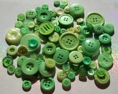 100 Light Green Buttons BTN-GN100 Round Button Pack Collection Assortment