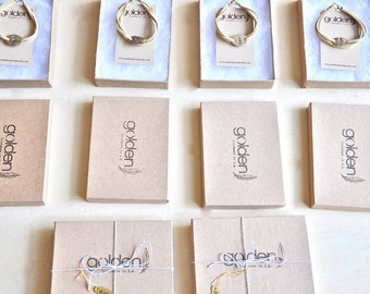 Bridal Party Gift Set - Six Personalized Gold or Silver and Leather Bracelets - On Sale- Free Shipping
