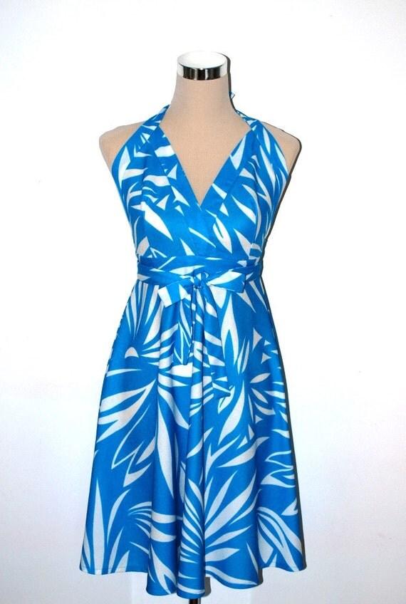 Sundress and bikini top. VINTAGE. 1960s / 1970s. Nelbarden. Swim cover up / swimwear.