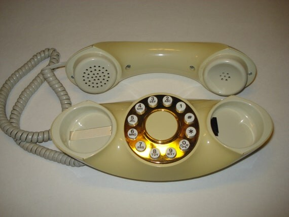Vintage Telephone Genie Pushbutton Design Line