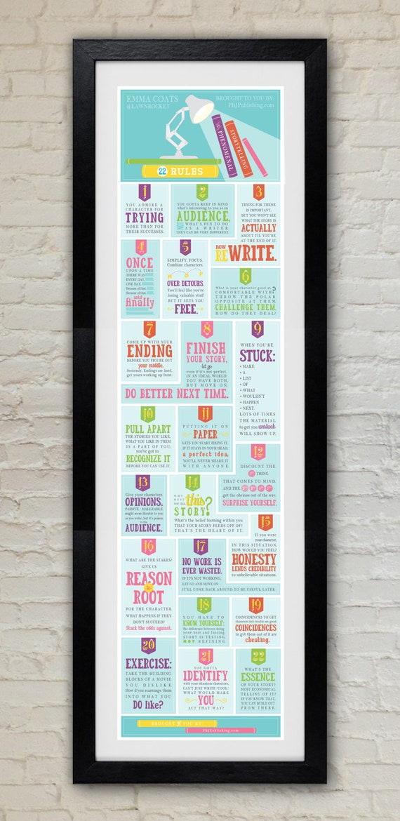 Poster - 22 Rules to Phenomenal Storytelling
