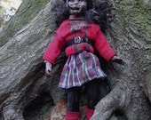 Reserved Listing - Sweater Zombies Don't Wear Hats Art Doll - Regan