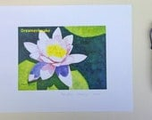 Water Lily Art Print, image 5 x 7 inches