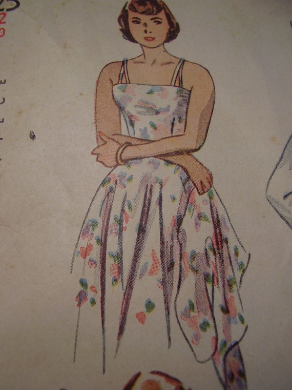 Vintage 1940s Simplicity Playsuit, Bolero and Skirt Sewing Pattern, Size 12, Bust 30