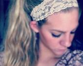 Nude - Medium Lace Headband