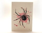 Hand Painted Widow Greeting Card