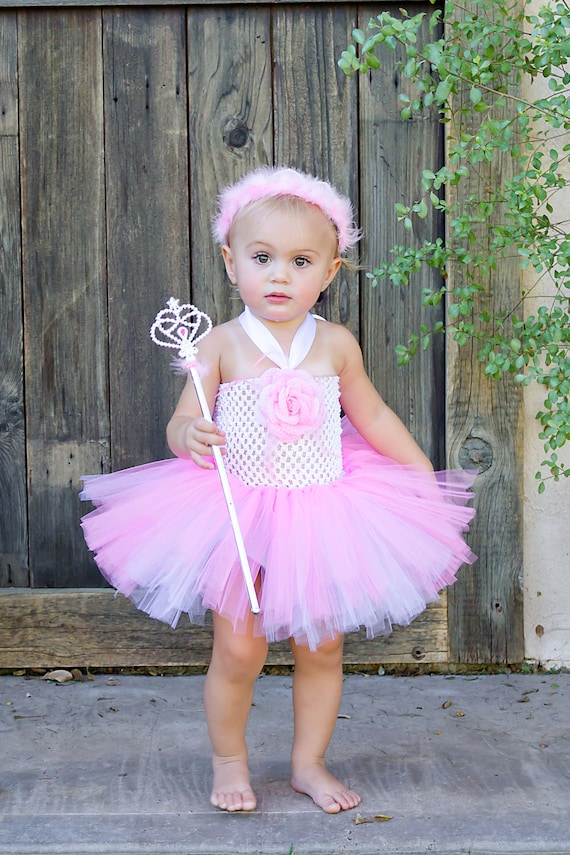 Infant white amp pink princess tutu dress w by tutumaniadressup