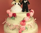 PATTERN Instant Download Dreamy Wedding Cake Crochet CALORIE FREE