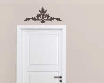 Doorway Flourish Centa Removable Vinyl Wall Art, doorway wall decal over the door door header scrollwork wall decal wall sticker