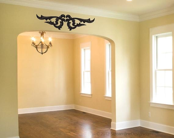 items similar to doorway flourish cajun removable vinyl wall art over the door wall stickers. Black Bedroom Furniture Sets. Home Design Ideas