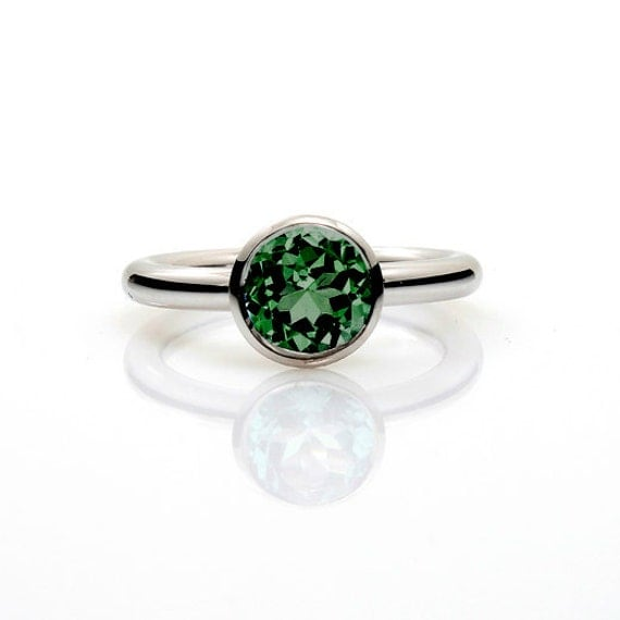 items similar to green tourmaline ring engagement ring