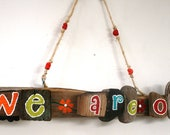 We Are One Driftwood Art--Anniversary Gift, Valentine's Day Gift (Made to Order)