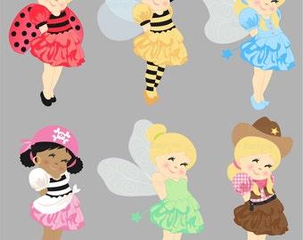 Costume Party Clip Art Set
