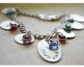 Personalized Mommy Bracelet - Initial Bracelet - Grandma Grandchildren Sterling Silver - Charm Bracelet for Grandma