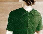 Vintage 1935 Back-Interest Blouse with Collar & Buttons 555 PDF Digital Crochet Pattern