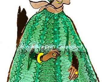 A BEST Vintage Chic Popcorn Panels Cape & Cap Miss w Plus Size 374 PDF Digital Crochet Pattern