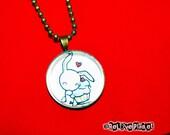 "Cupcake Bunny Kawaii Rabbit 1"" Pendant Necklace - kawaii smile - or 2 for 20 - ReLove Plan.et"