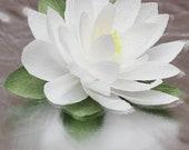 Paper lotus flower 3 pcs, christmas flowers, wedding decor, white lotus, ivory lotus, wedding lotus, lotus decor, giant lotus, lotos