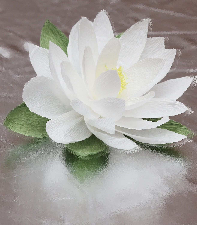 Wedding Bouquets Lotus Flower : Paper lotus flower pcs christmas flowers wedding decor