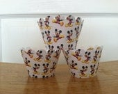 CLEARANCE SALE Ready to ship 12 Mickey Mouse Cupcake Wrappers
