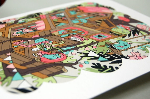 TREEHOUSE Illustration - Giclee Print