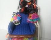 Monster High or Barbie Club Chair -  Skelita inspired