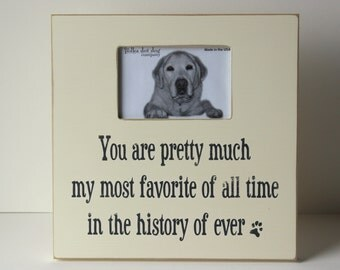 Picture frame for dog and dog lover, distressed picture frame, dog lover gift
