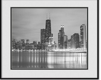 Chicago Skyline Art - Black and White Chicago Skyline Picture