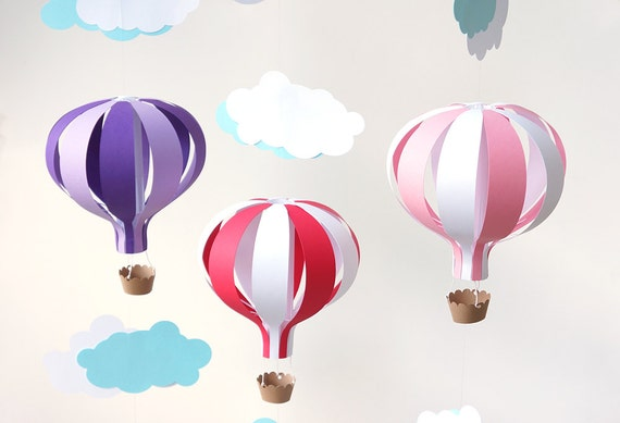 Items Similar To Hot Air Balloon Mobile DIY Kit On Etsy