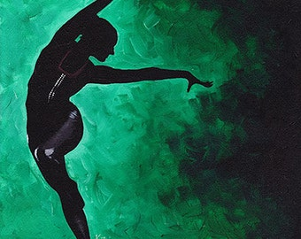 Original Acrylic Painting on Canvas 'Sofia' 16x20 Dancer Ballet Modern Contemporary