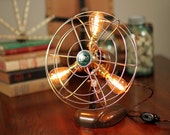 Fan Lamp | Zero Model | Table Lamp | Desk Lamp | Nightlight | Bed light | Vintage Fan | Lamp | Steampunk lamp | Steampunk | Industrial Light