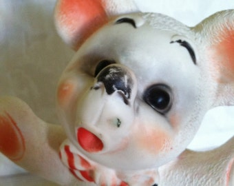 1956 Dreamland Creations Squeaky Rubber Bear in Roller Skates