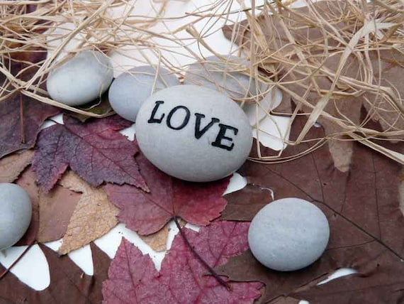 Love Engraved Stone