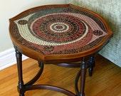 Spiral Mosaic Coffee Table