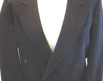 Emanuel Ungaro Uomo Made in Italy Man's Double Breasted Black Sports Coat