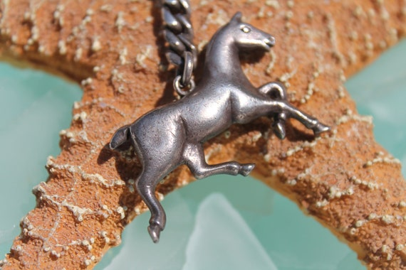 RESERVED for Rachelle - Circa 1940s SOLID and HEAVY Sterling Silver Horse Key Chain