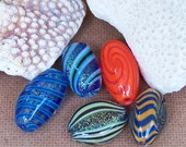 Handblown Dichroic and Spiral Color Glass Beads - Variety 5 pack - wholesale price