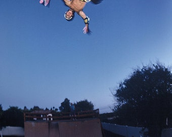 "80s Skate Photo - Christian Hosoi Christ Air Eighties Skateboarding Photograph 24""X36"" Print"