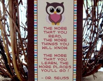 Owl Bookmark, Owl Party Favor, Bookmark Favor