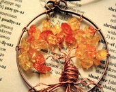 Autumn Leaves Tree of Life Necklace