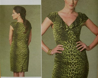 "Vogue Dress  by Kay Unger Vogue American Designer Pattern 1206  Uncut  Sizes 6-8-10-12  Bust 30.5-31.5-32.5- 34"""