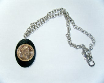 Recycled Queen Elizabeth II Canadian coin necklace